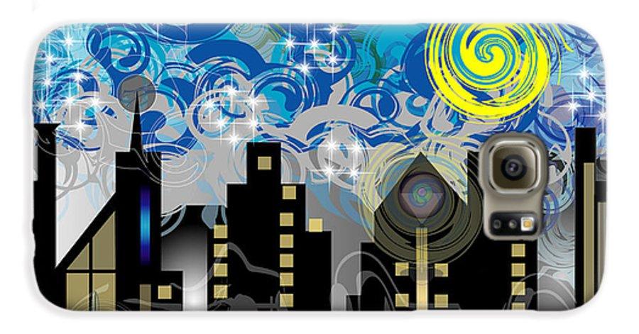 Jazz Galaxy S6 Case featuring the digital art Starry Night by George Pasini
