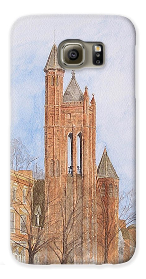 Gothic Galaxy S6 Case featuring the painting State Street Church by Dominic White