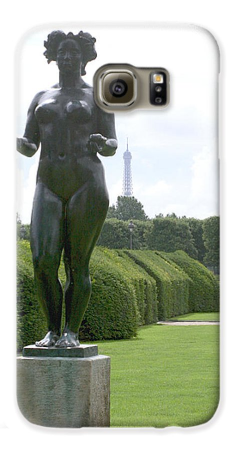 Statue Galaxy S6 Case featuring the photograph Statues At The Louvre by Greg Sharpe