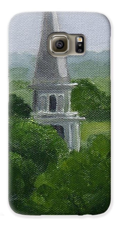 Steeple Galaxy S6 Case featuring the painting Steeple by Toni Berry