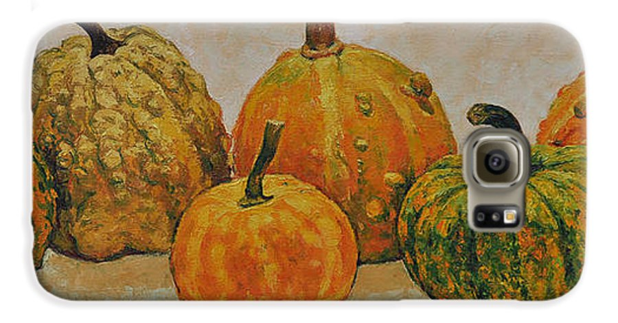 Still Life Galaxy S6 Case featuring the painting Still Life With Pumpkins by Iliyan Bozhanov
