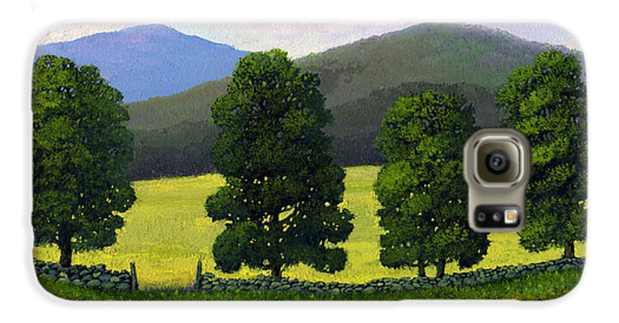 Landscape Galaxy S6 Case featuring the painting Stonewall Field by Frank Wilson