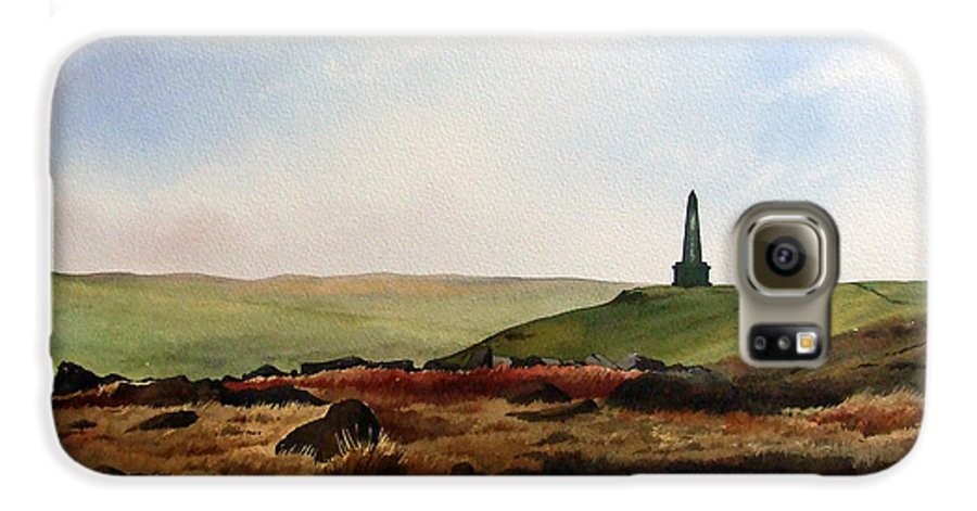 Landscape Galaxy S6 Case featuring the painting Stoodley Pike by Paul Dene Marlor