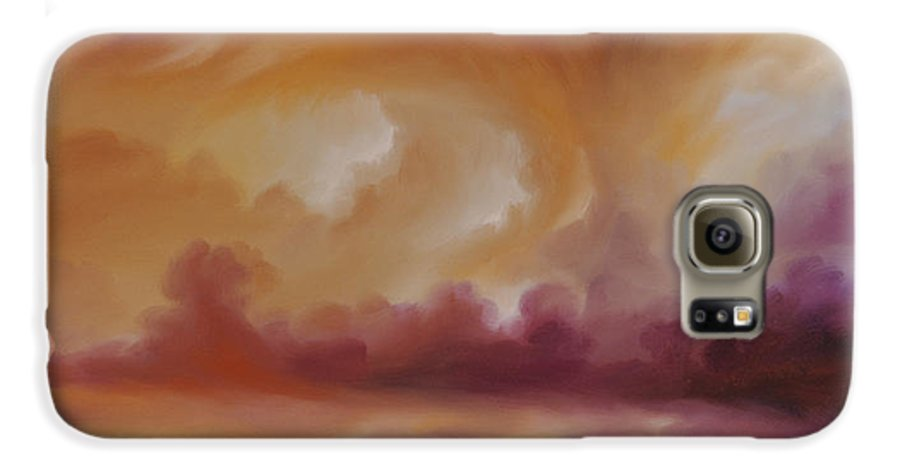 Tempest Galaxy S6 Case featuring the painting Storm Clouds 2 by James Christopher Hill