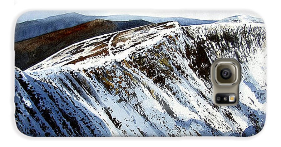 Helvellin Galaxy S6 Case featuring the painting Striding Edge Leading To Helvellin Sumit by Paul Dene Marlor