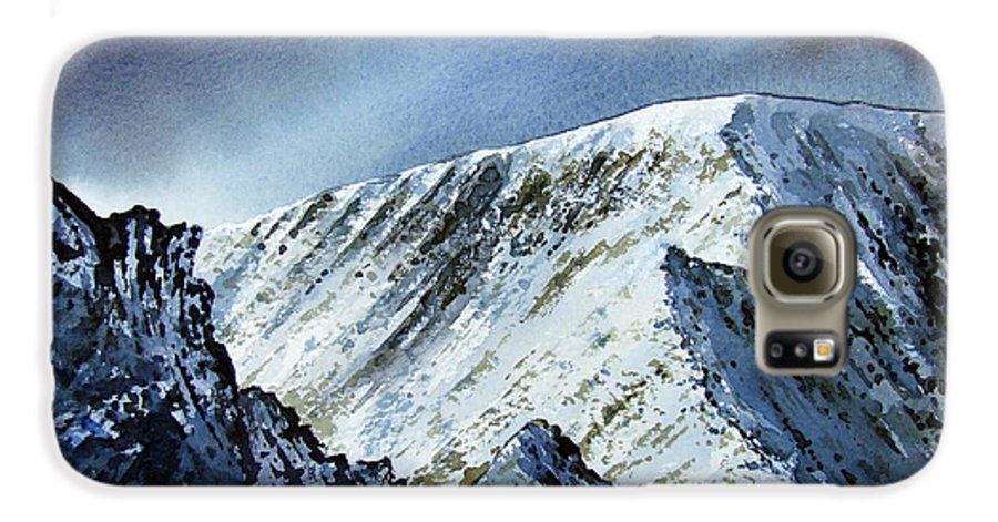 Mountain Galaxy S6 Case featuring the painting Striding Edge On Helvellin by Paul Dene Marlor