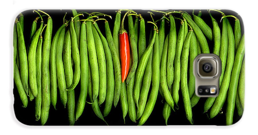 Culinary Galaxy S6 Case featuring the photograph Stringbeans And Chilli by Christian Slanec