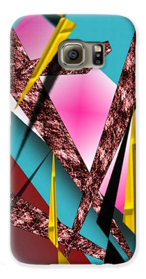 Abstracts Galaxy S6 Case featuring the digital art Structure by Brenda L Spencer