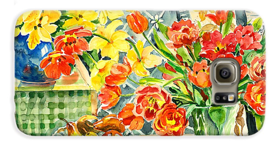 Watercolor Galaxy S6 Case featuring the painting Studio Still Life by Alexandra Maria Ethlyn Cheshire