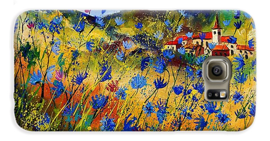 Flowers Galaxy S6 Case featuring the painting Summer Glory by Pol Ledent