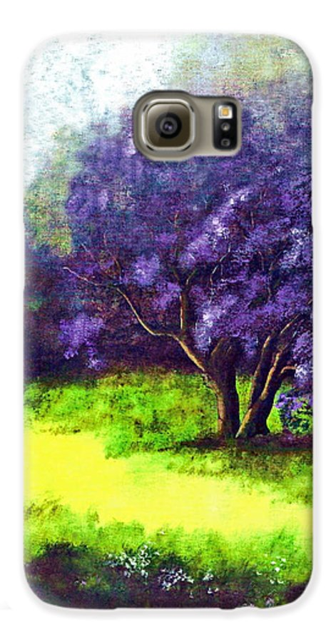 Fine Art Print Galaxy S6 Case featuring the painting Summer Mist by Patricia Griffin Brett