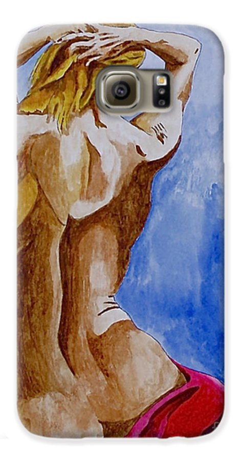 Nude By Herschel Fall Very Hot Nude Galaxy S6 Case featuring the painting Summer Morning by Herschel Fall