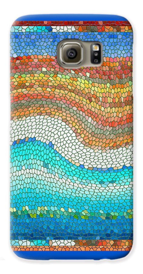 Colorful Galaxy S6 Case featuring the digital art Summer Mosaic by Melissa A Benson