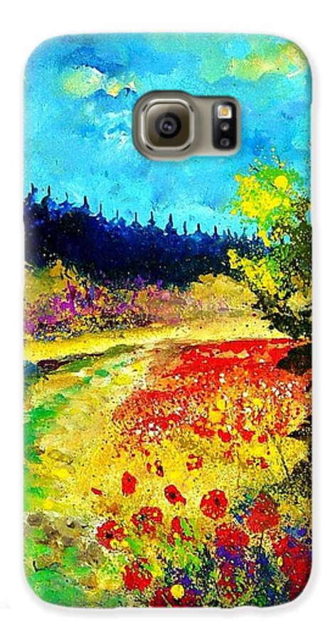 Flowers Galaxy S6 Case featuring the painting Summer by Pol Ledent