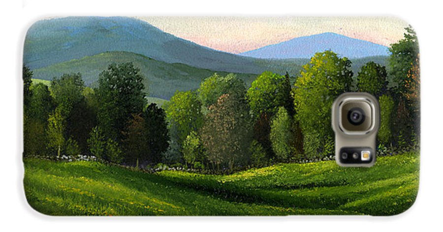 Landscape Galaxy S6 Case featuring the painting Summers Ending by Frank Wilson