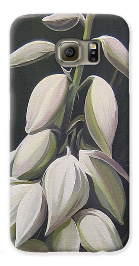 Yucca Plant Galaxy S6 Case featuring the painting Summersilver by Hunter Jay