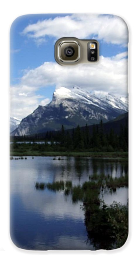 Landscape Galaxy S6 Case featuring the photograph Summertime In Vermillion Lakes by Tiffany Vest