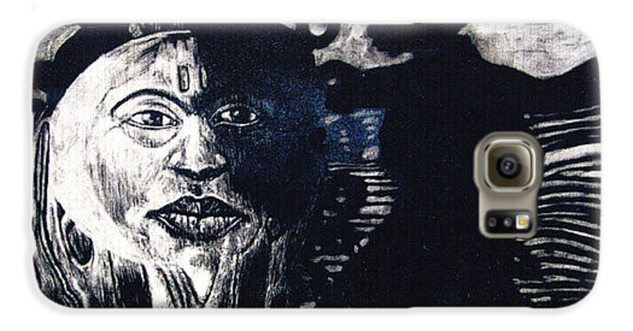 Galaxy S6 Case featuring the mixed media Sun Dance by Chester Elmore