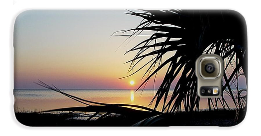 Sunset Galaxy S6 Case featuring the photograph Sun Touched by Debbie May