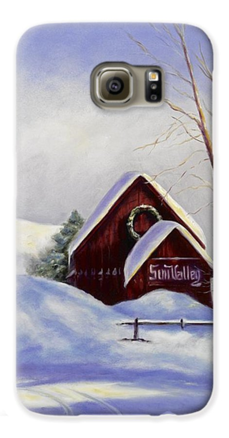 Landscape Galaxy S6 Case featuring the painting Sun Valley 2 by Shannon Grissom