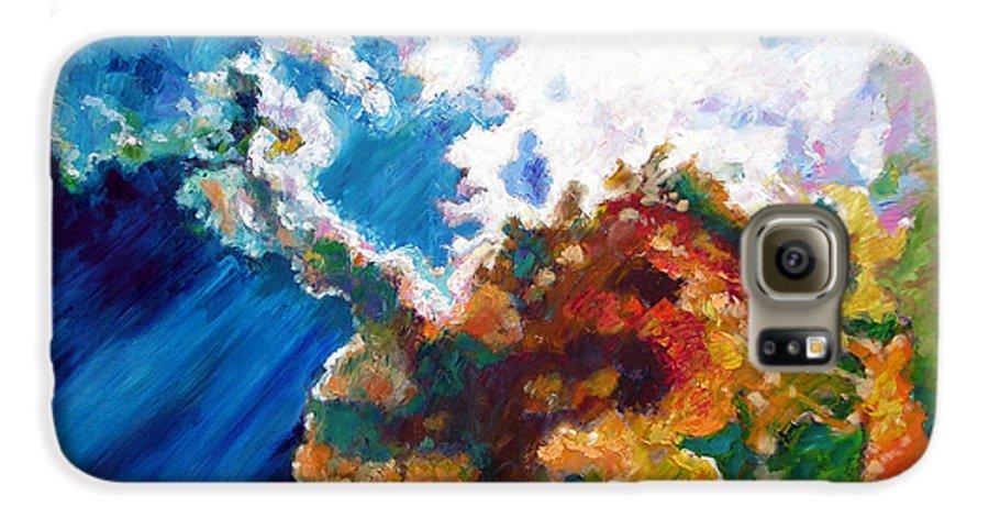 Sunburst Galaxy S6 Case featuring the painting Sunburst by John Lautermilch
