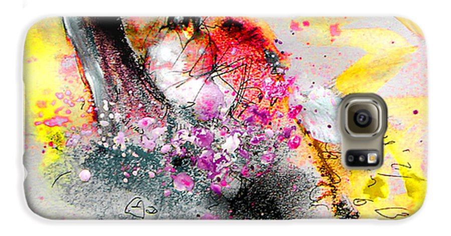Pastel Painting Galaxy S6 Case featuring the painting Sunday By The Tree by Miki De Goodaboom