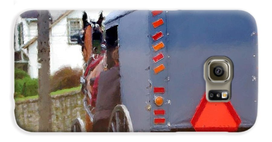 Amish Galaxy S6 Case featuring the photograph Sunday Courting by Debbi Granruth