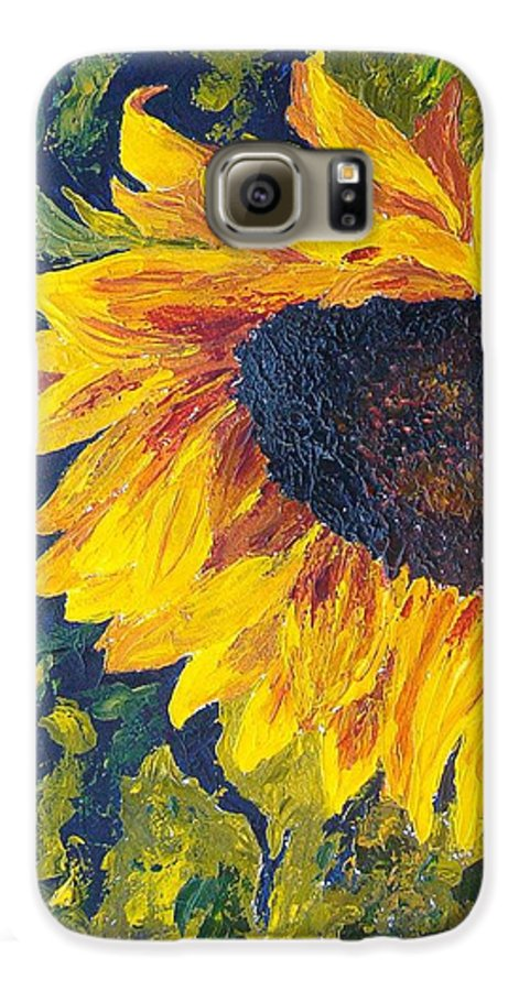 Galaxy S6 Case featuring the painting Sunflower by Tami Booher