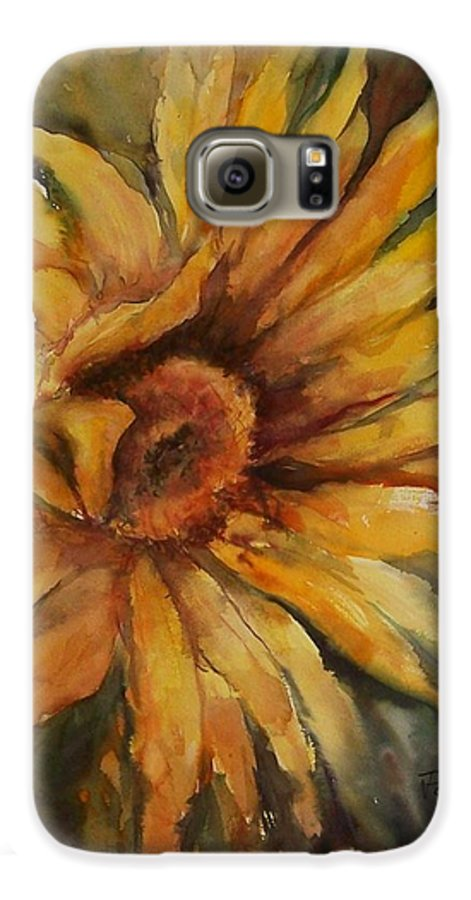 Sunflower Galaxy S6 Case featuring the painting Sunflower by Virginia Potter