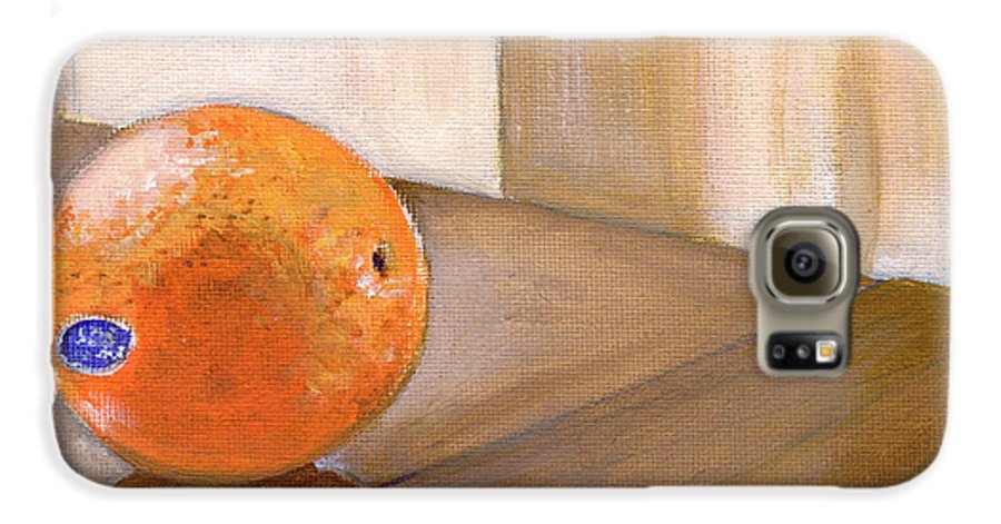 Food Galaxy S6 Case featuring the painting Sunkist by Sarah Lynch