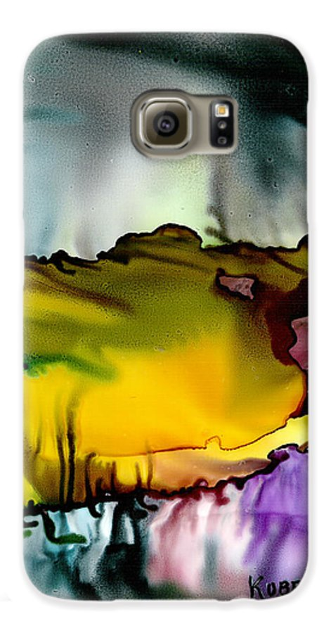 Abstract Galaxy S6 Case featuring the mixed media Sunless Sea by Susan Kubes