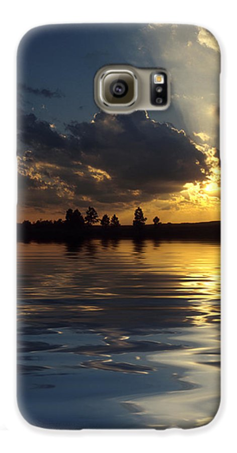 Sunset Galaxy S6 Case featuring the photograph Sunray Sunset by Jerry McElroy