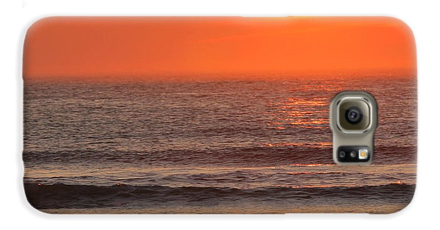 Ocean Galaxy S6 Case featuring the photograph Sunrise On The Oceanside by Max Allen