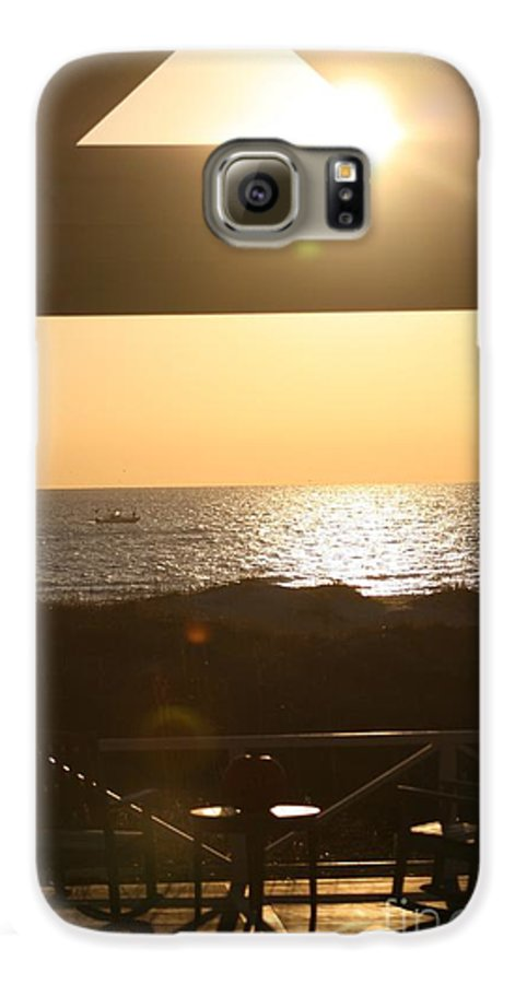 Sunrise Galaxy S6 Case featuring the photograph Sunrise Through The Pavilion by Nadine Rippelmeyer