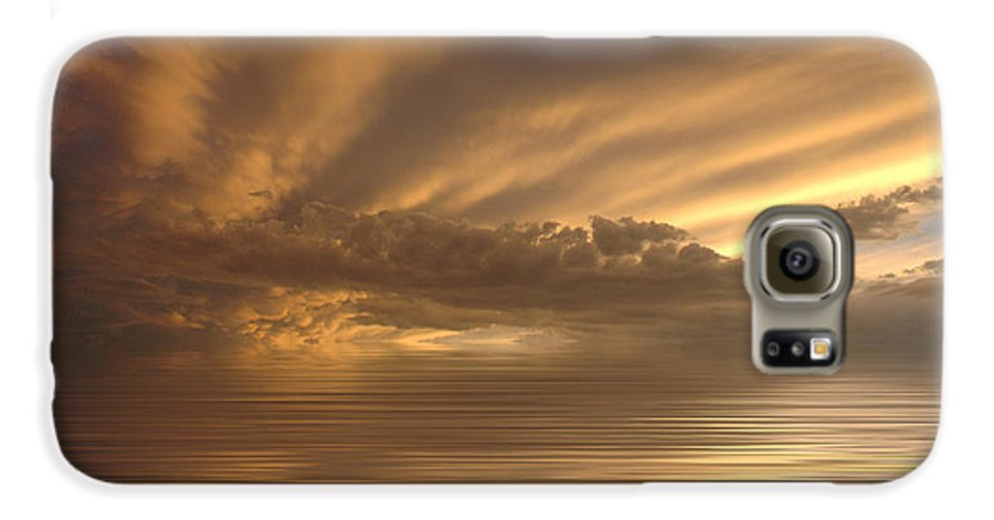 Sunset Galaxy S6 Case featuring the photograph Sunset At Sea by Jerry McElroy