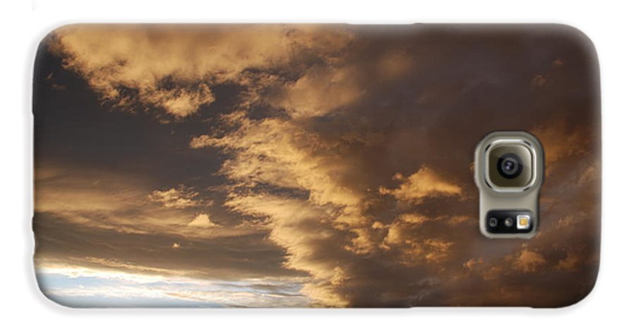 Sunset Galaxy S6 Case featuring the photograph Sunset At The New Mexico State Capital by Rob Hans