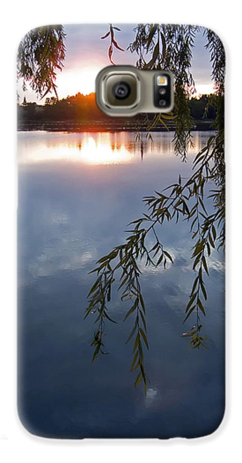 Nature Galaxy S6 Case featuring the photograph Sunset by Daniel Csoka