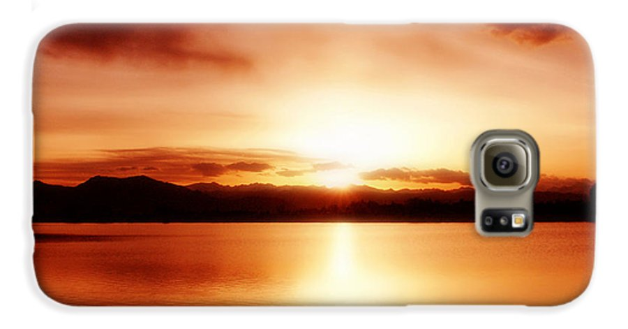 Lake Galaxy S6 Case featuring the photograph Sunset by Marilyn Hunt