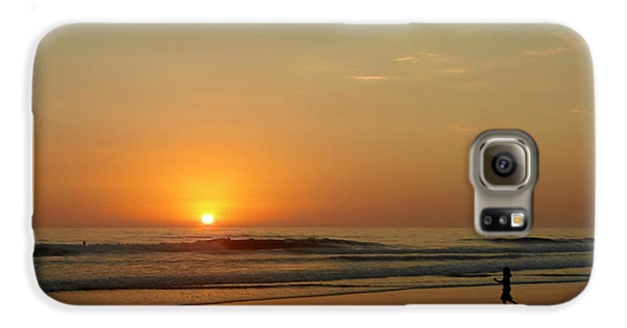 Pacific Galaxy S6 Case featuring the photograph Sunset Over La Jolla Shores by Christine Till