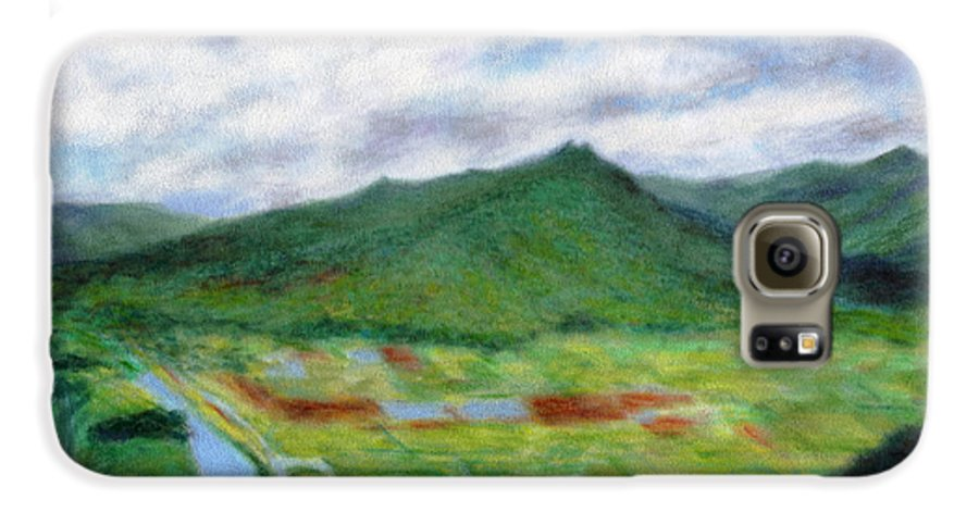 Rainbow Colors Pastel Galaxy S6 Case featuring the painting Sunspot by Kenneth Grzesik