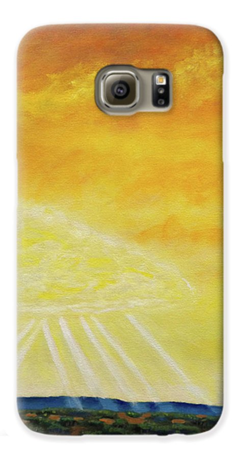 Landscape Galaxy S6 Case featuring the painting Super Seven by Brian Commerford