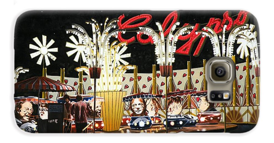 Surreal Galaxy S6 Case featuring the painting Surreal Carnival by Dave Martsolf