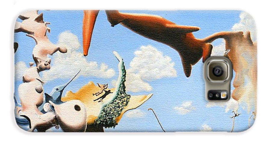 Surreal Galaxy S6 Case featuring the painting Surreal Friends by Dave Martsolf