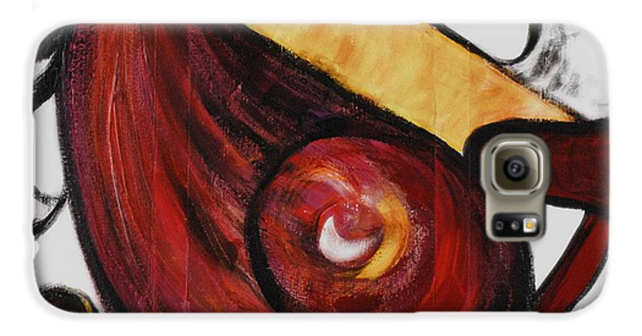 Survivor Galaxy S6 Case featuring the painting Survivor by Nadine Rippelmeyer