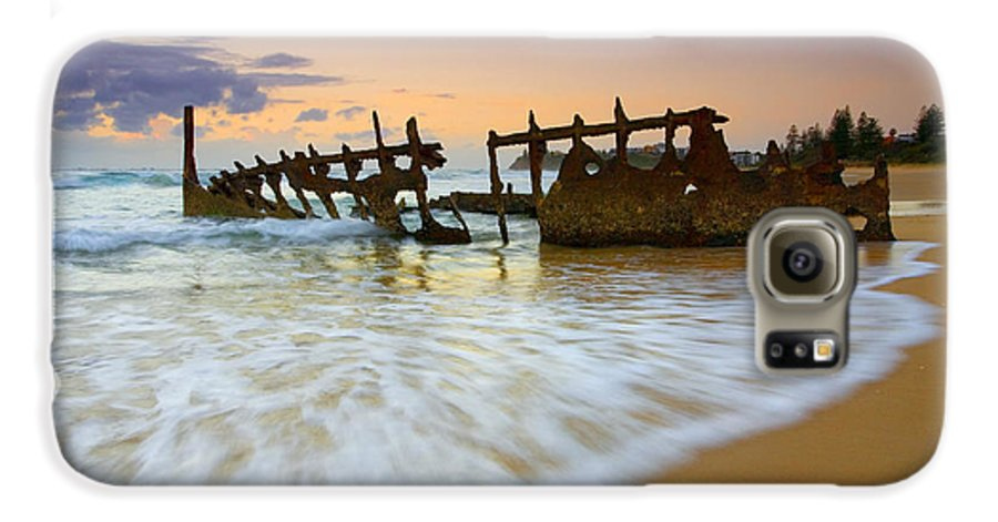 Shipwreck Galaxy S6 Case featuring the photograph Swallowed By The Tides by Mike Dawson