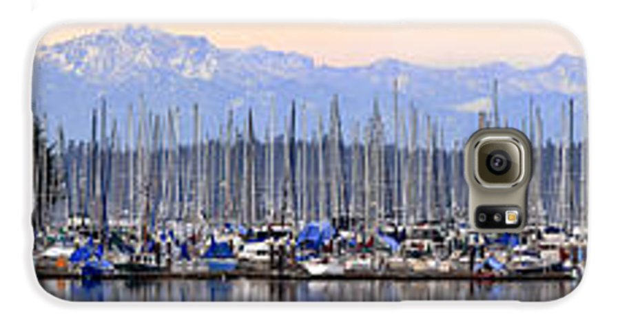 Landscape Galaxy S6 Case featuring the photograph Swantown Marina Olympia Wa by Larry Keahey