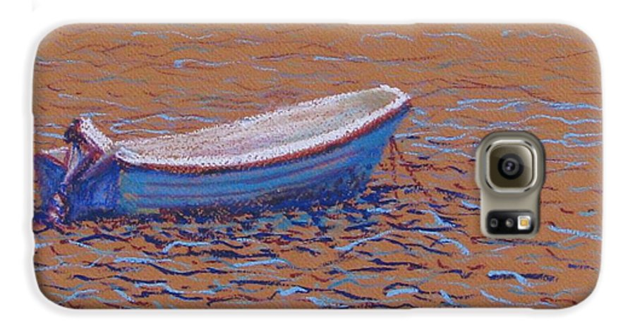 Boat Galaxy S6 Case featuring the pastel Swedish Boat by Art Nomad Sandra Hansen