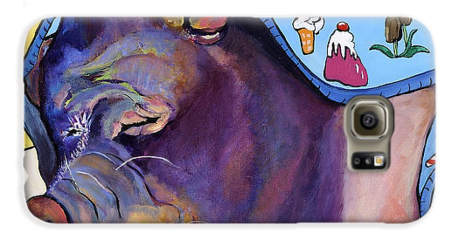 Farm Animal Galaxy S6 Case featuring the painting Sweet Dreams by Pat Saunders-White