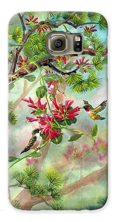Hummingbirds Galaxy S6 Case featuring the painting Sweet Journey by Eileen Fong