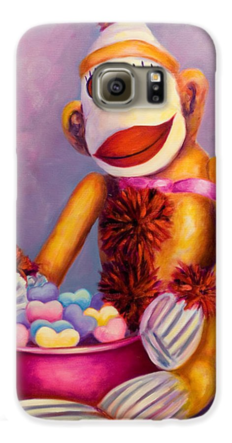 Heart Galaxy S6 Case featuring the painting Sweetheart Made Of Sockies by Shannon Grissom